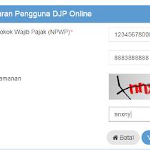 Cara Registrasi di djponline.pajak.go.id Untuk Laporkan SPT Lewat e-Filing