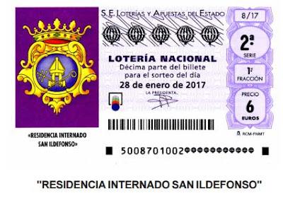 sorteo loteria del sabado 28 de enero niños de San Ildefonso