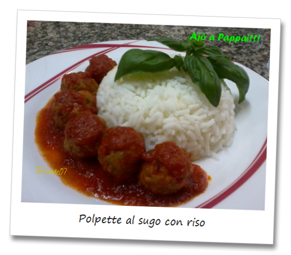 Immagine della ricetta delle polpette al sugo con riso