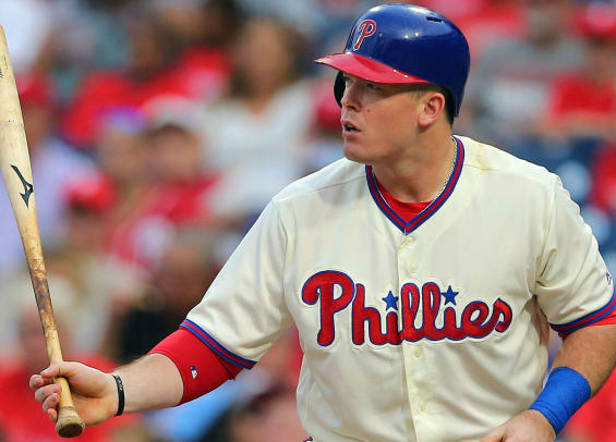 Phillies place Justin Bour on waivers