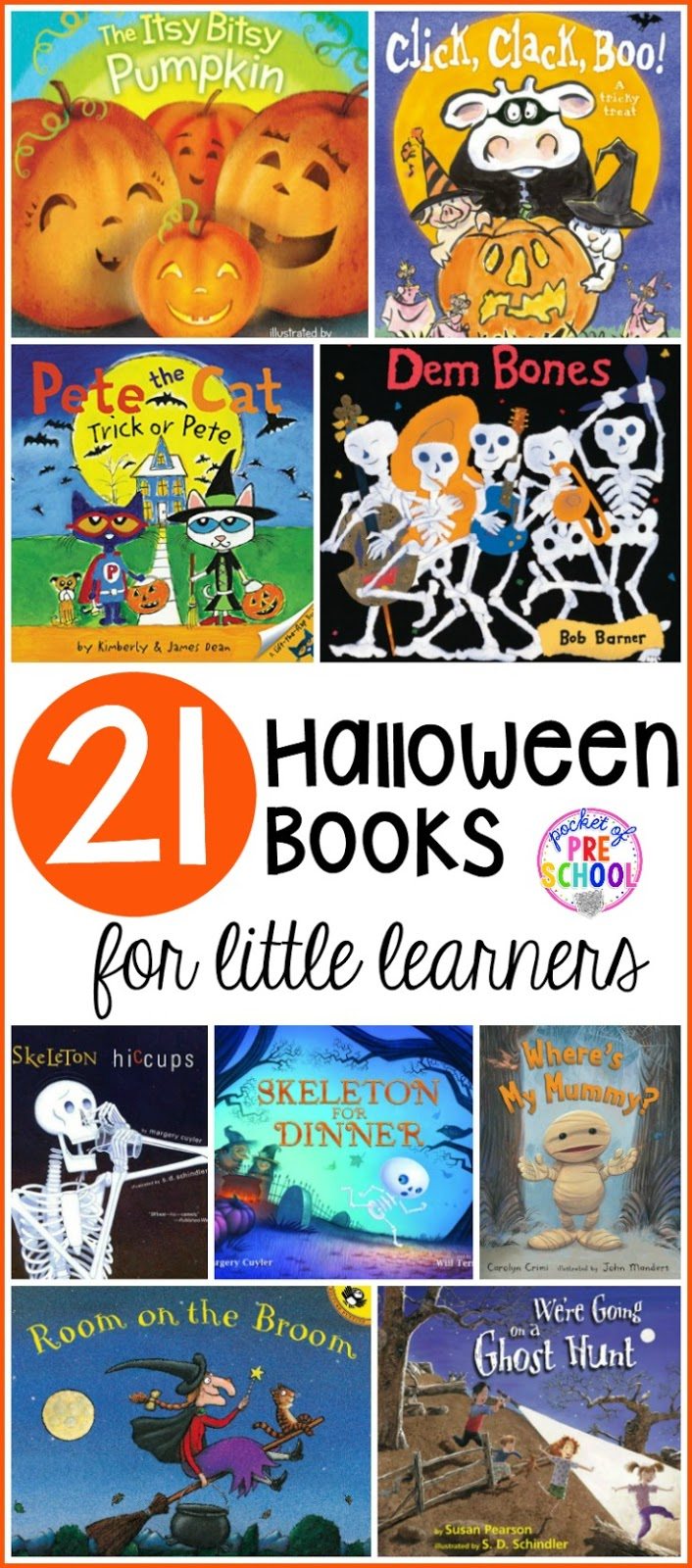 Halloween Books for Little Learners - Pocket of Preschool