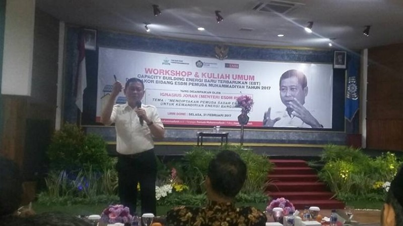 Menteri ESDM Ignasius Jonan di UMM Malang