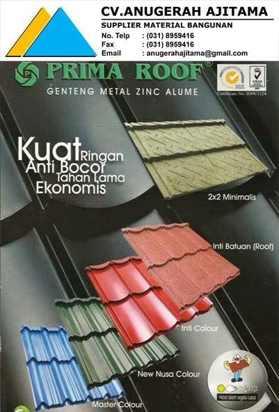 Harga Genteng Metal Prima Roof