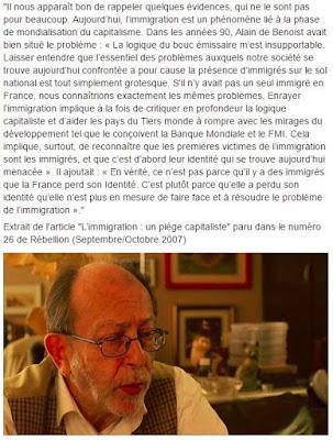 Alain de Benoist immigrés