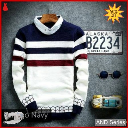 AND199 Sweater Pria Ranggo Biru Navy BMGShop