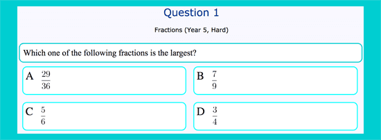 Questionnaire about comparing fractions