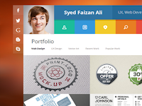 Download vCard Personal Blogger Template