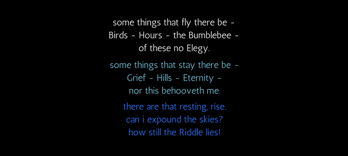 Emily Dickinson's 68 (89) some things that fly there be (text)