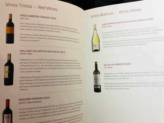 Iberia Business Class A330 Wine