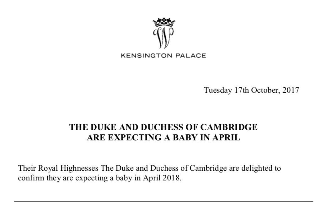 Księżna Cambridge urodzi trzecie dziecko w kwietniu! + więcej.