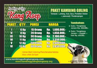 harga kambing guling bulan november 2018