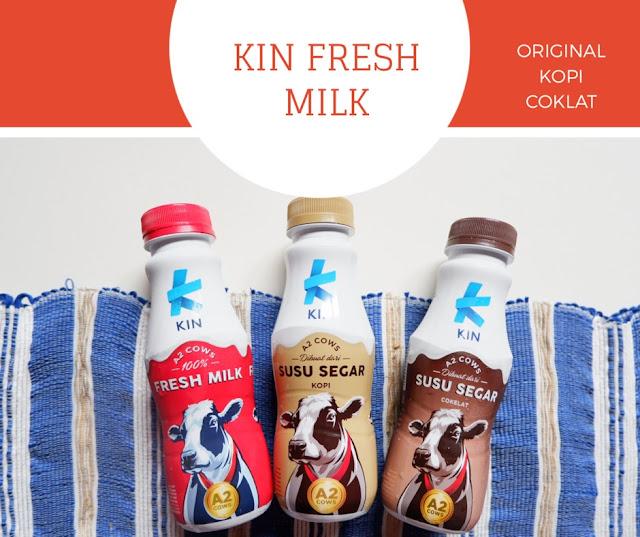 kin fresh milk mengandung protein a2 yang mudah dicerna oleh tubuh