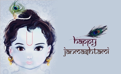 Beautiful Happy Janmashtami Image