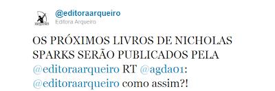 News: Livros de Nicholas Sparks pela Editora Sextante no Brasil 11