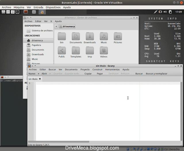 BunsenLabs cuenta con software liviano