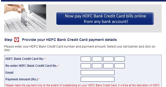 Hdfc Billdesk For Credit Card And Loan Emi Bill Payments