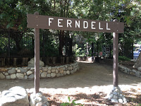 Entrance to Ferndell gardens, Griffith Park