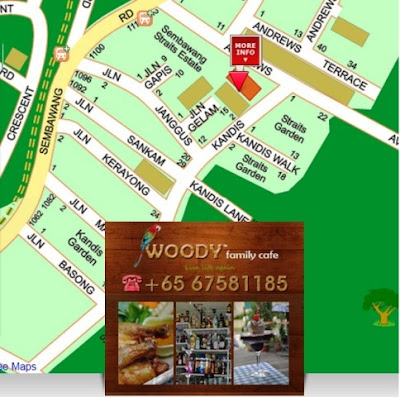woody family cafe streetdirectory map