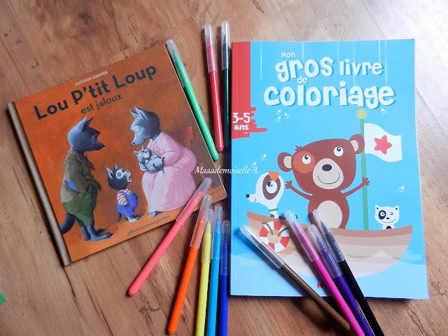 Loup petit loup est jaloux - Mon gros livre de coloriage