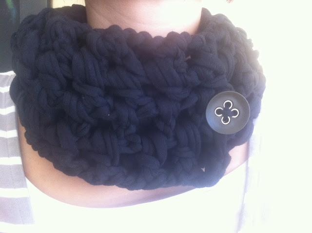cuello trapillo con boton, cuello lana