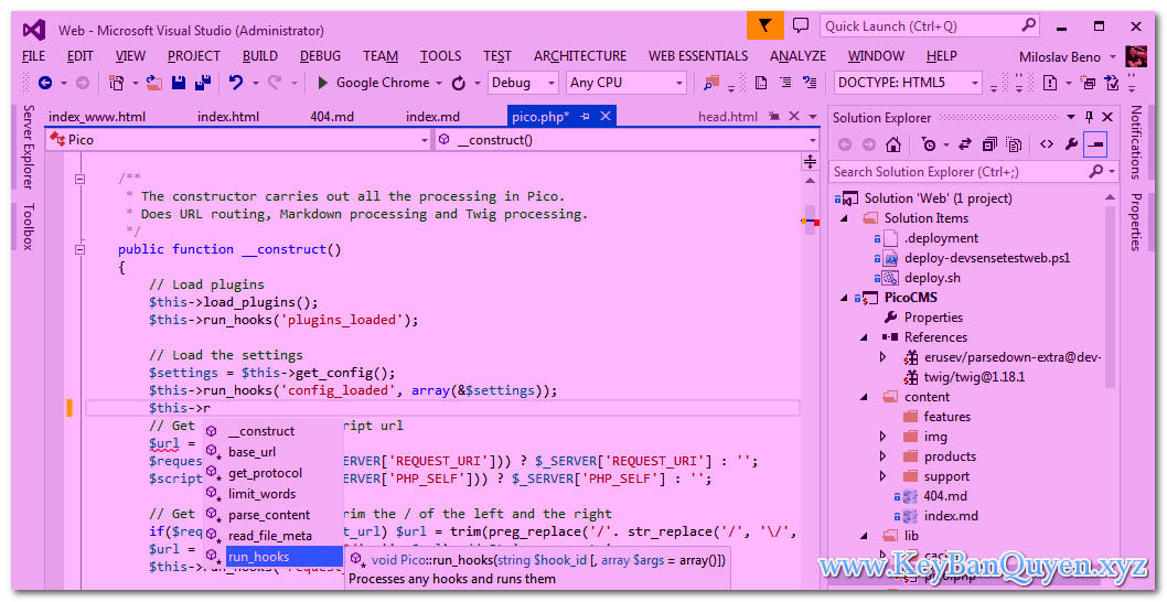 Download PHP Tools for Visual Studio Full Key, Công cụ hỗ trợ lập trình PHP cho Visual Studio 2017