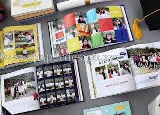 Desain buku kenangan sekolah | Konsep yearbook