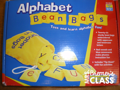 An alphabet activity center that combines letter matching, hand-eye coordination, physical activity, and cooperation-- all in one center!