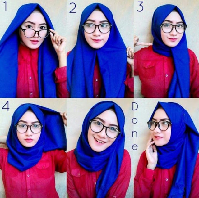 tutorial hijab modern simpel style 2