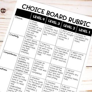 march-choice-board-rubric