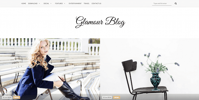 Free Glamour Blogger Template