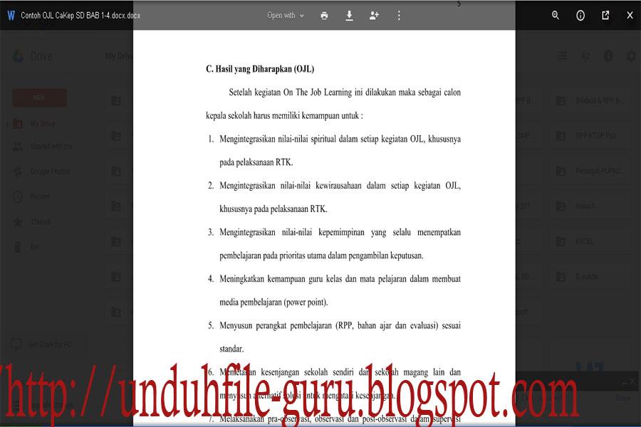 Unduh Contoh On The Job Learning Ojl Terbaru Berkas File Guru
