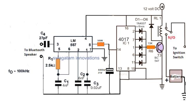 Bluetooth Car Ignition Lock Circuit ~ Electronic Circuit