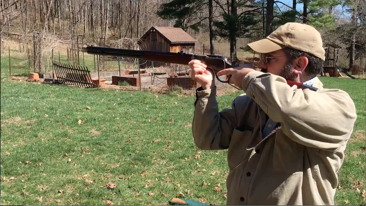 Shooting My Cimarron Firearms Uberti 1873 Sporting Rifle With Black