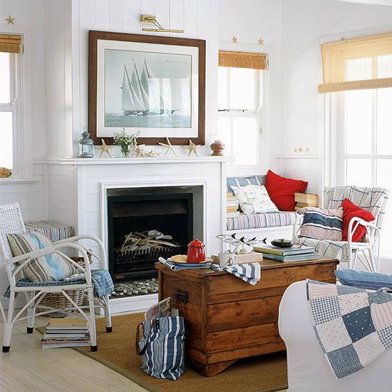 Nautical Topic Family Room ! Home Decor