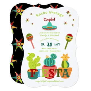 Fun fiesta couples shower invitations