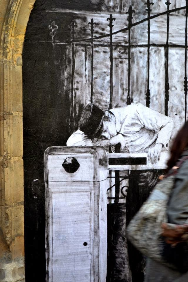 """""""Border"""" New Paster On The Streets of Paris in France by French artist Levalet. 2"""