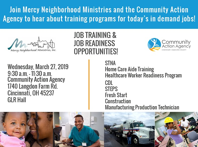 Job Training & Job Readiness Opportunities - March 27, 2019