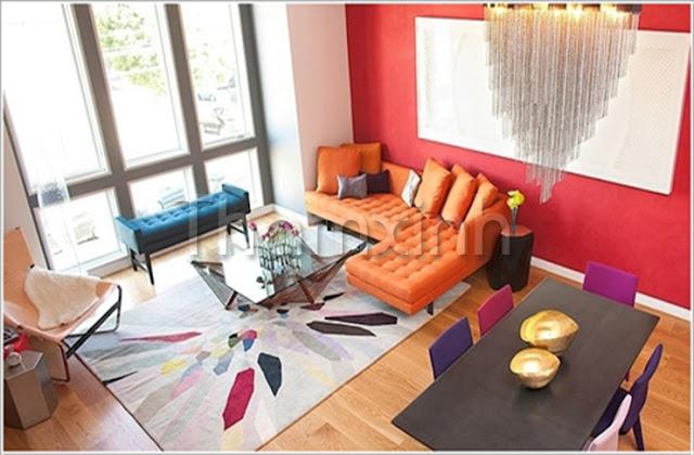 Thảm trải sàn tô điểm thêm cho phòng khách