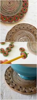 Salvamanteles de papel. Proyecto de reciclaje hecho a partir de bolsas de papel, son decorativos y utilitarios | www.bizcochosysancochos.com