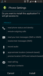 Tampilan Aplkasi SmartphoneLogs Android