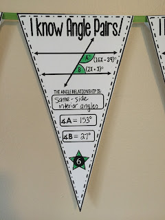 Angle Pairs Pennant