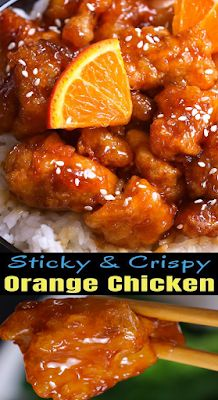 Sticky and Crispy Chinese Orange Chicken - FOODS RECIPE