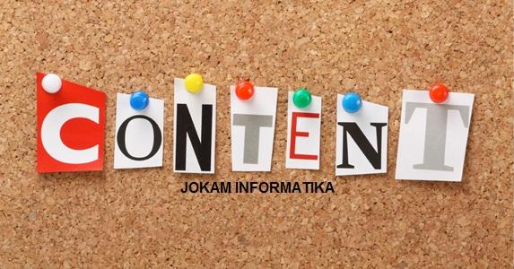 10 Cara Penulisan Konten Pada Blogger Atau Website Yang Baik Dan Benar - JOKAM INFORMATIKA