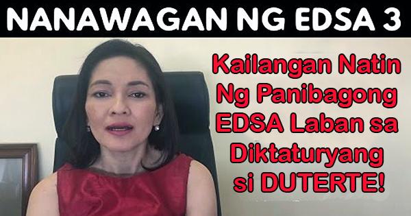 Senator Risa Hontiveros Nanawagan ng EDSA 3 Para Patalsikin si Pangulong Duterte