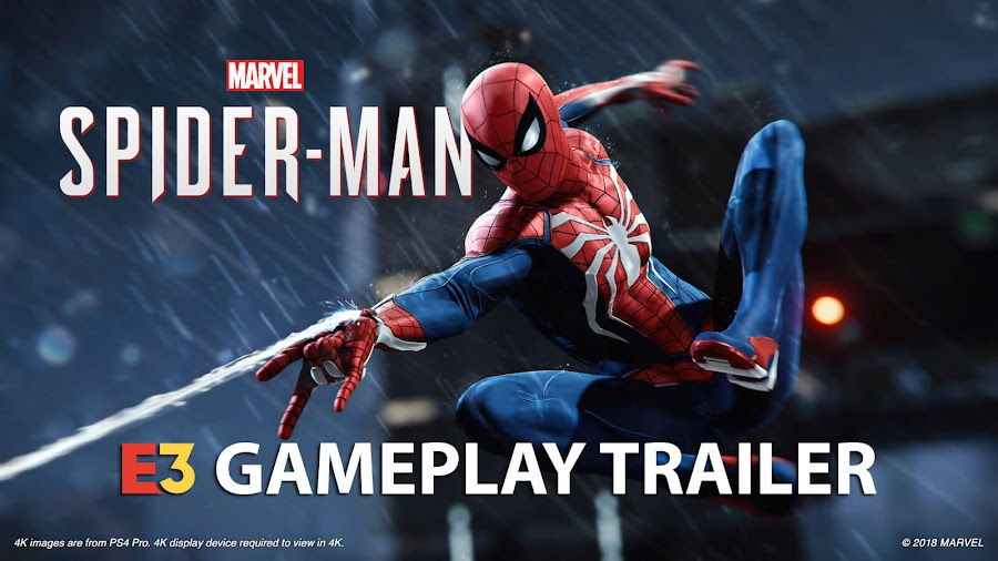 spider man ps4 gameplay e3 2018
