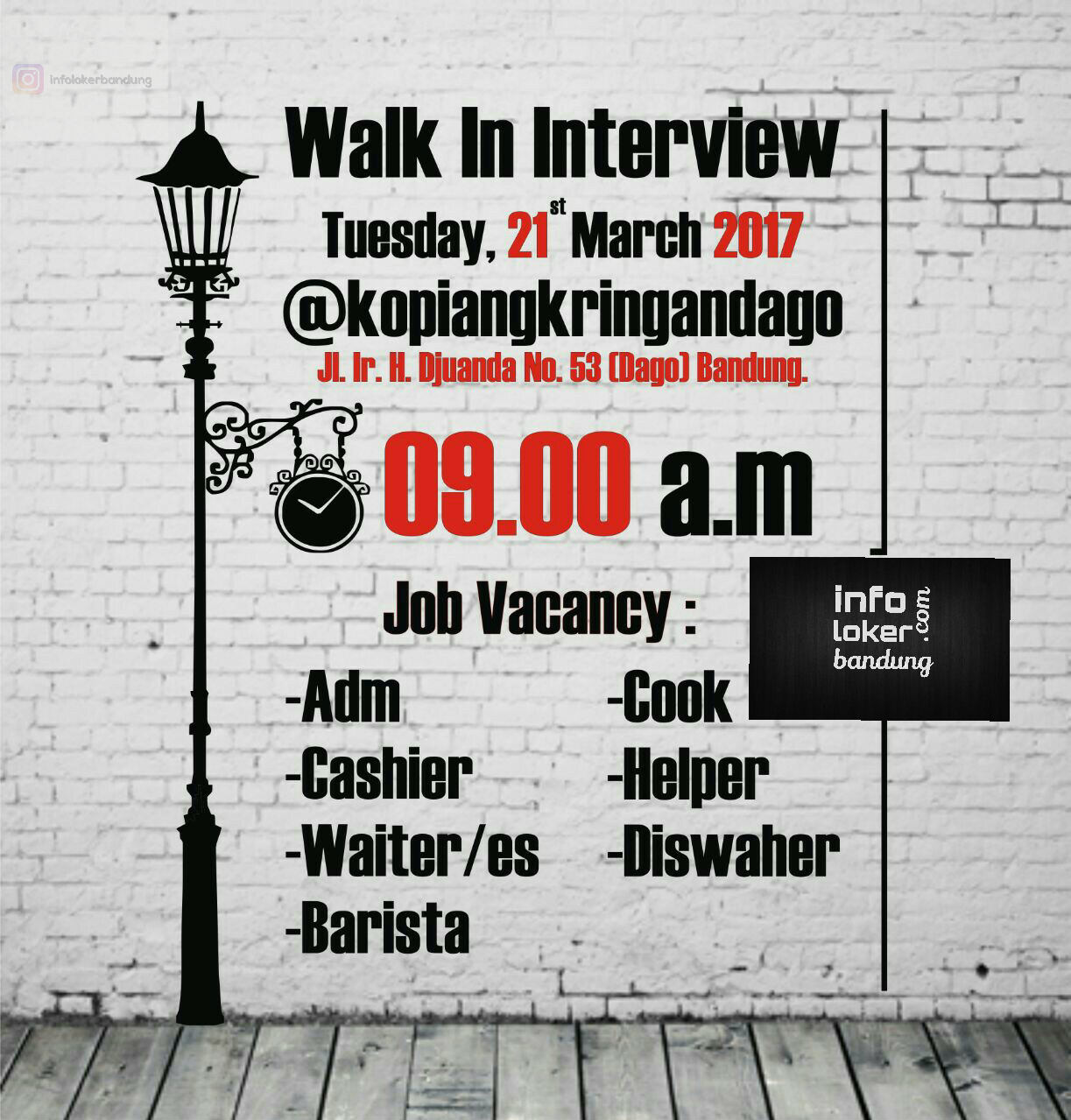 Walk In Interview Kopi Angkringan Dago 21 Maret 2017