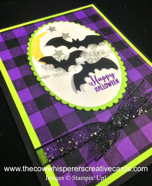 Card, Spooky Sweets, Spooky Bats, Punch, Halloween