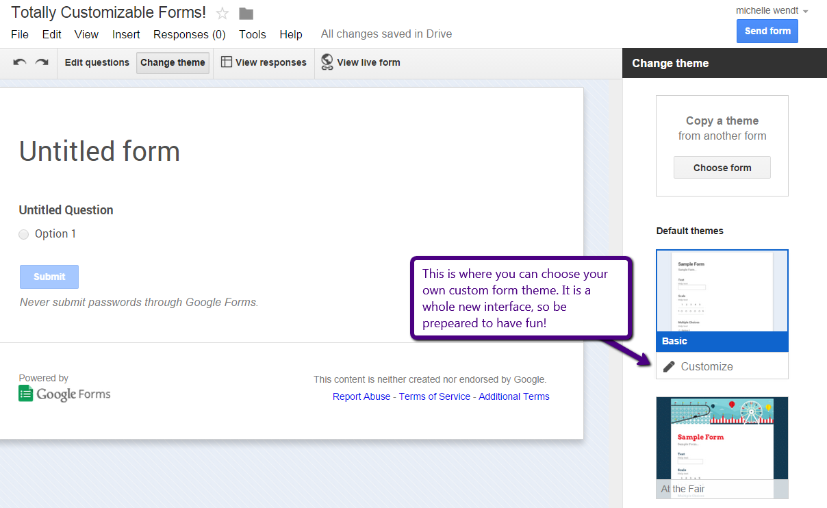 Google themes view - This Will Save So Much Time There Seemed To Be A Bit Of A Snag When Trying To Covert Forms That Were Over A Year Old As They Were Not Built Using The Newer