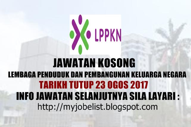 Jawatan Kosong Lembaga Penduduk dan Pembangunan Keluarga Negara (LPPKN)  2017