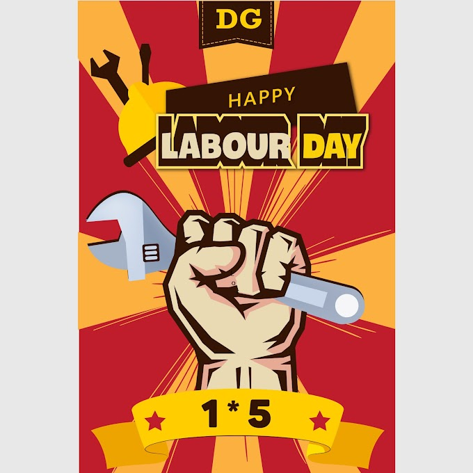 poster celebrating international labor day 15 building new works Template free AI